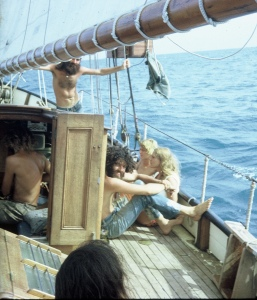 Hippies on a ship